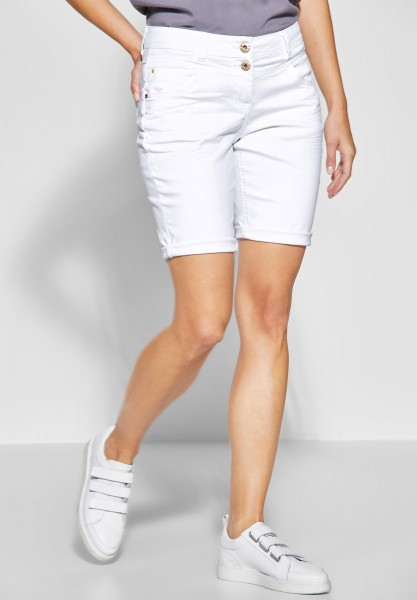 CECIL - Loose Fit Shorts New York in White