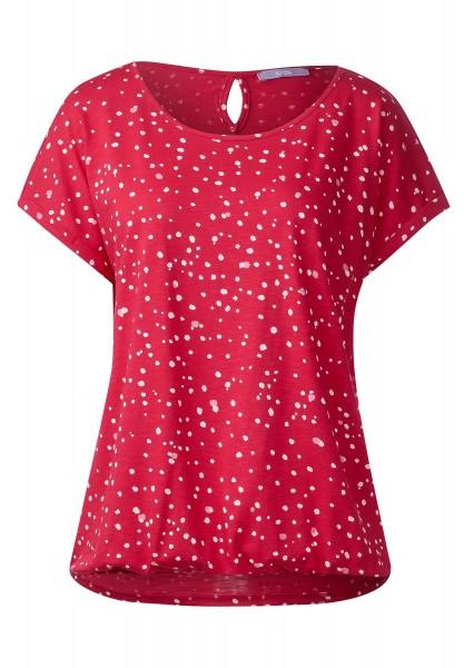 CECIL - Shirt mit Punkteprint Stine in Just Red