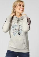 CECIL - Sweatshirt mit Aufdruck Off White Melange