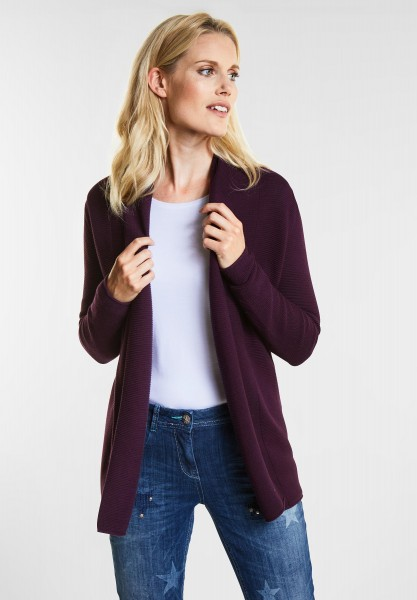 CECIL - Struktur-Strickjacke Enisa in Deep Berry
