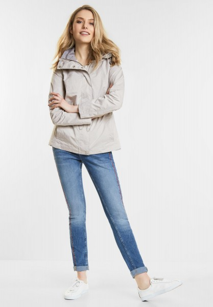 Street One - Taillierte Papertouch Jacke in Sand Grey