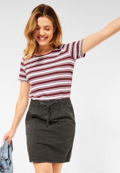 CECIL - T-Shirt im Streifen Muster in Copper Brown