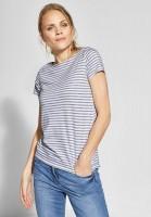 CECIL - Streifen-Shirt Abbi in Graphite Light Grey