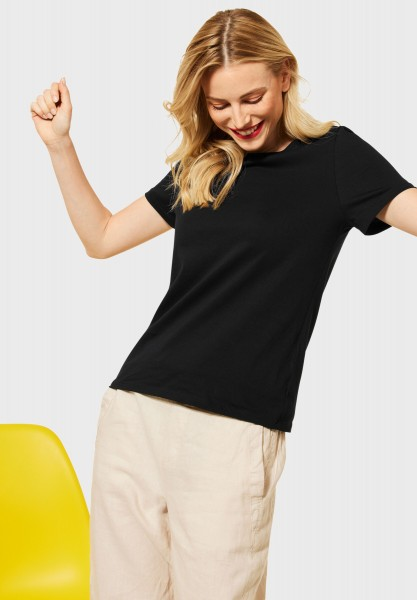 Street One - Basic T-Shirt in Black