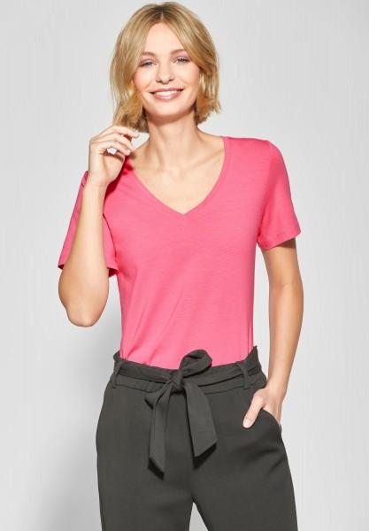 Street One - Shirt mit V-Neck Rhea in Blossom Pink