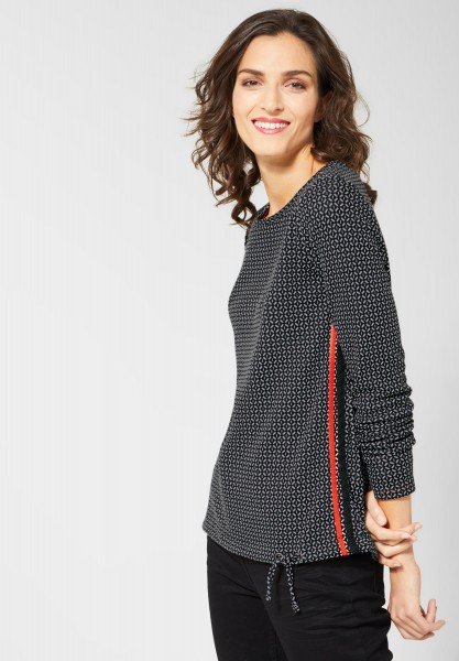 CECIL - Jaquard Shirt mit Muster in Black