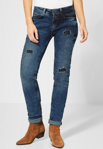 Street One - Denim Jane mit Nieten in Natural Blue Moon Wash