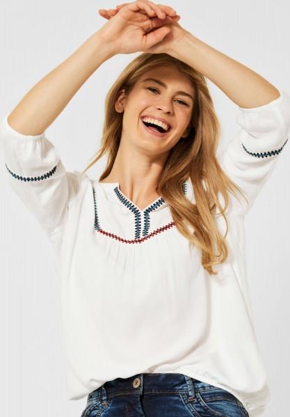 CECIL - Bluse im Tunika Style in Pure Off White