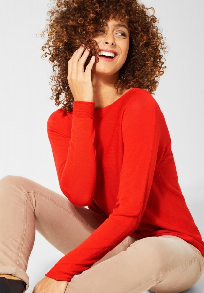 Street One - Basic Pullover Noreen in Lava Red