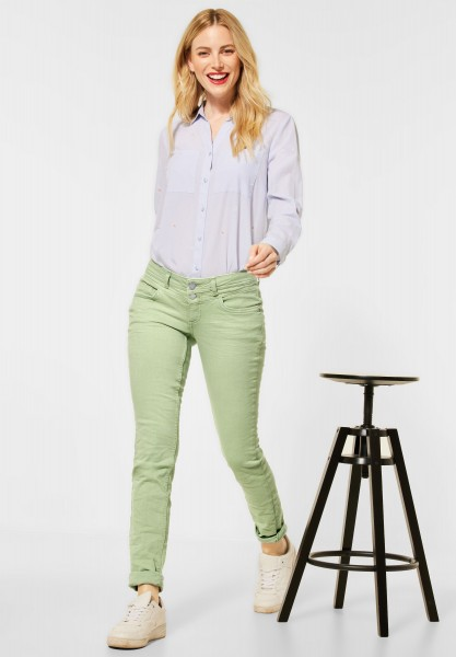Street One - Casual Fit Denim in Colour in Faded Green Summer Wash