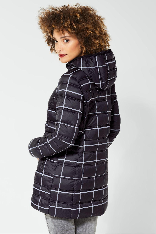 Charlise Frau Karierter Mantel Fur Damen Mit Weiter