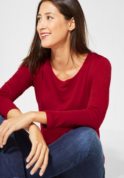 Street One - Doppelfront-Shirt Lanea in Love Red