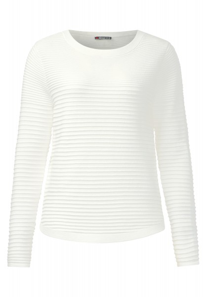 Street One - Rippstrukur-Pullover Robby Off White