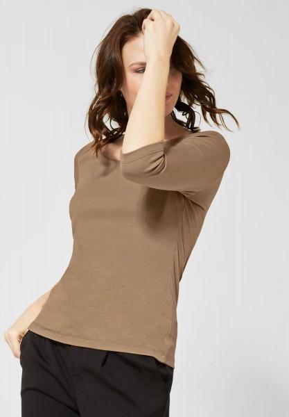 Street One - Basic Shirt Pania in Easy Camel