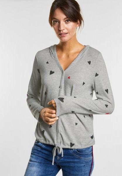 Street One Herzchen Shirtjacke Lienne in Neo Grey