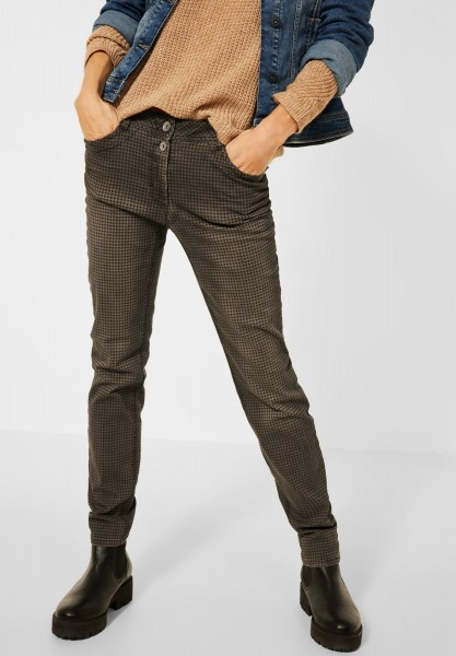 CECIL - Casual Fit Hose in Toffee Brown