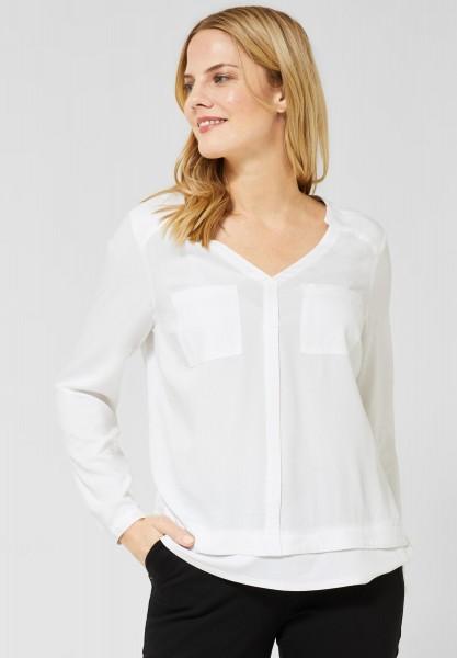 CECIL - Bluse im Lagenlook in Pure Off White