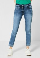 CECIL - Denim Scarlett im Used Look in Light Blue Used Wash