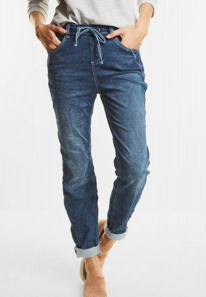 Street One - Softe Crash Denim Bonny in Sweatdenim Blue random Bleach