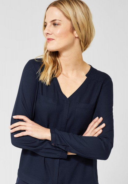 CECIL - Bluse im Lagenlook in Deep Blue
