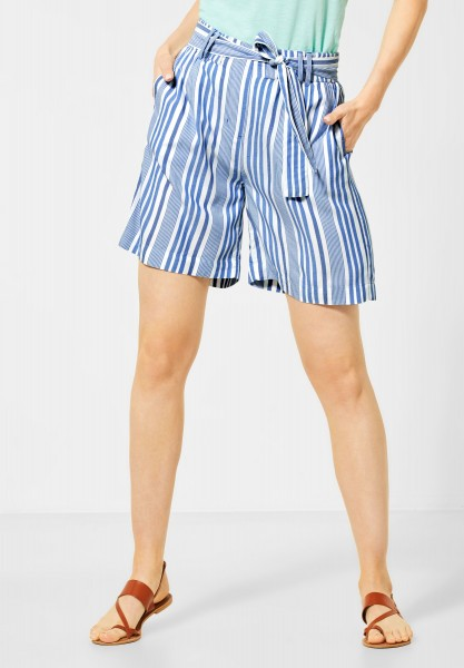 CECIL - Loose Fit Shorts in Santorini Blue