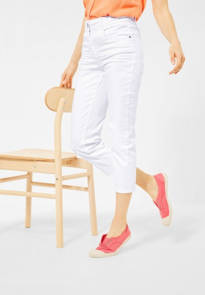 CECIL - Slim Fit Hose in High Waist in White