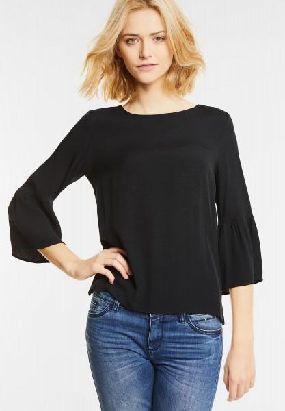 Street One - Volantärmel Shirt Nastasia in Black