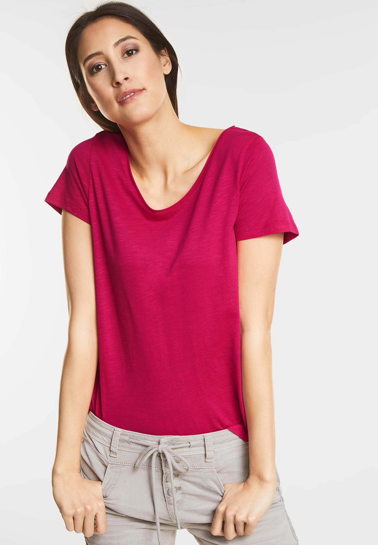 weiches basic shirt gerda von street one in carribean pink. Black Bedroom Furniture Sets. Home Design Ideas