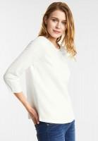 Street One Jacquard Design Sweatshirt in Off White