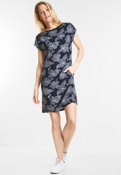 CECIL - Lässiges Blumenprint Kleid in Deep Blue