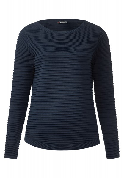 Street One - Rippstrukur-Pullover Robby Night Blue