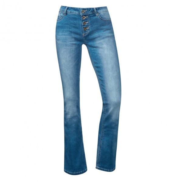 Street One - Washed Bootcut-Jeans Janis