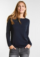 CECIL - Softer Basic Pullover in Deep Blue