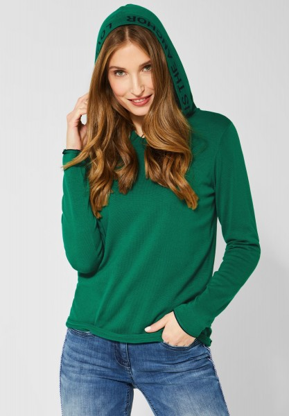 CECIL - Sportlicher Hoodie-Pullover in Lucky Clover Green