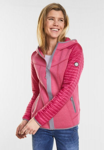 CECIL - Materialmix Jacke in Dragon Fruit Pink