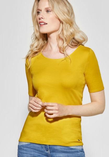 CECIL - Organic Halbarmshirt Lena in Ceylon Yellow