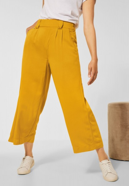 Street One - Loose Fit Hose mit Wide Legs in Sulphur Yellow
