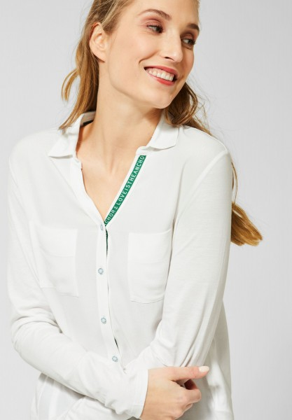 CECIL - Shirt in Blusen-Optik in Pure Off White