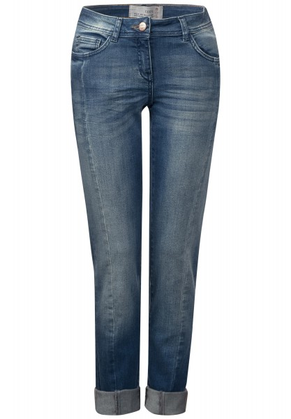 CECIL - Washed Look Denim Charlize in Mid Blue used Wash