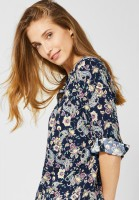 CECIL - Bluse mit Paisley-Muster in Deep Blue
