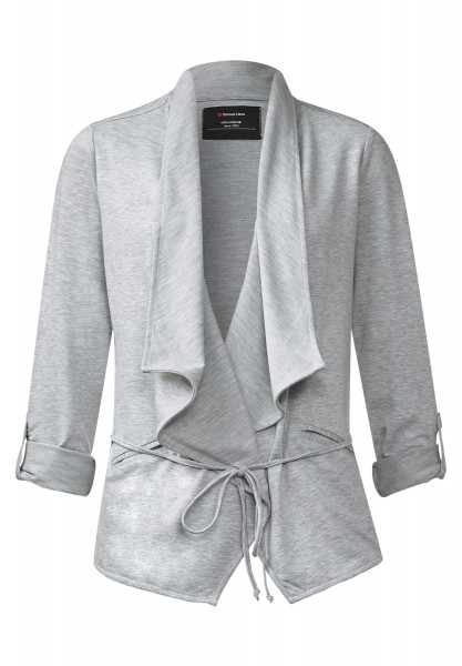 Street One - Offene Sweatjacke Leni Ghost Grey Melange