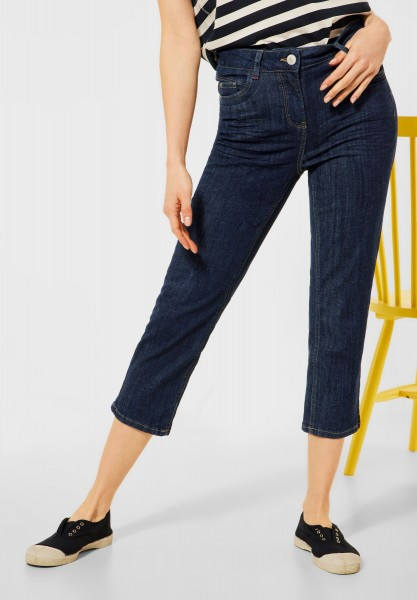 CECIL - Slim Fit Hose in 3/4 Länge in Rinsed Wash