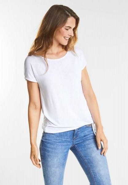 Street One - Basic Shirt Femke in White