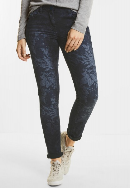 CECIL - Denim mit Print Charlize in Dark Blue Laser Wash