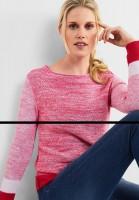 CECIL - Pullover im Farbmix in Camellia Rose