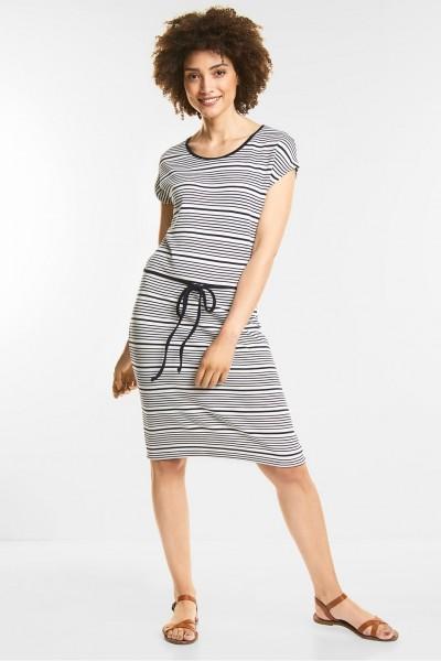 Street One - Streifen Jersey Kleid in Deep Blue