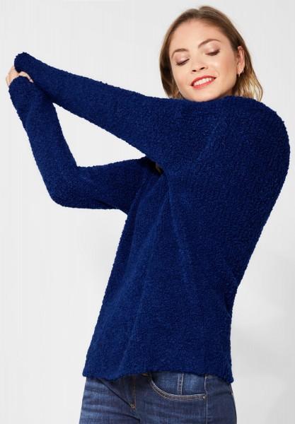Street One - Flausche-Pullover in Cobalt Blue