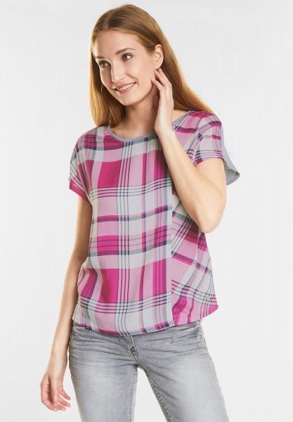 CECIL - Lässiges Karo Shirt in Galaxy Pink