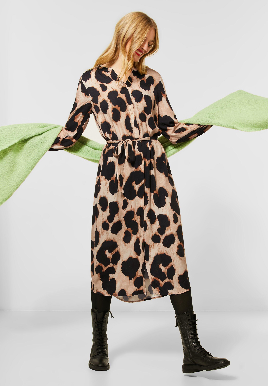 Leoprint Kleid Herbst Winter Boho Outfits