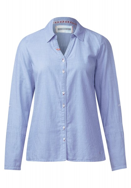 CECIL - Streifen Bluse mit Pin in Pure Sky Blue